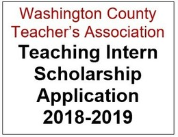 Washington County Teacher's Association Teaching Intern Scholarship Application 2018-2019