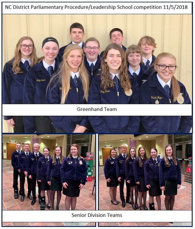 North Central District Leadership School and Parliamentary Procedure Career Development Event