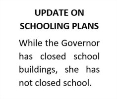 UPDATE ON SCHOOLING PLANS