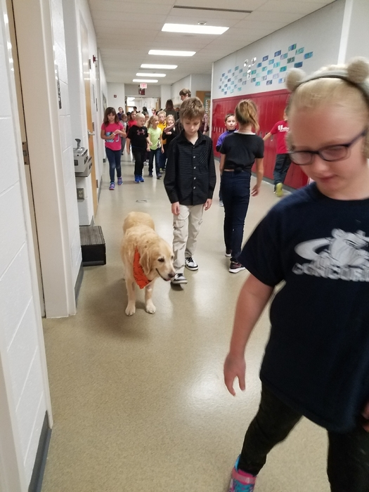 Walking the halls!