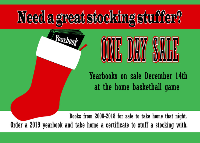 Yearbook Sale Dec. 14