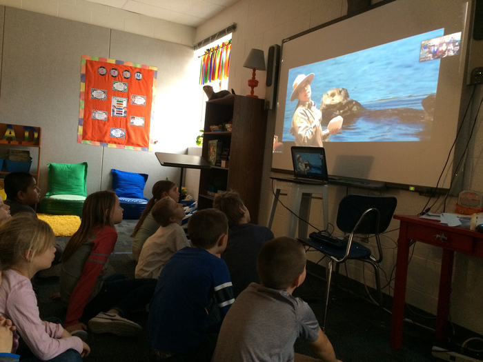We learned about sea animals. This is a sea otter.