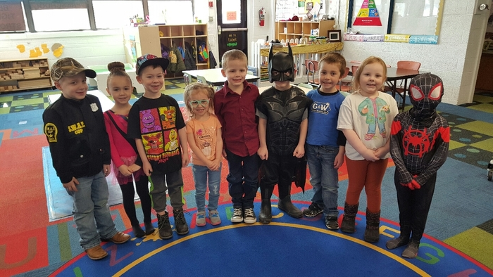 PM Pre-K dressed as what they want to be when they grow up