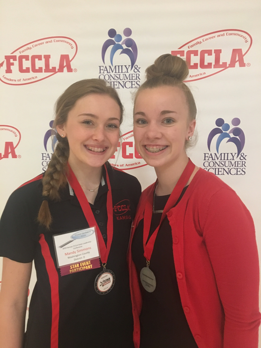 Emily and Mandy headed to nationals.