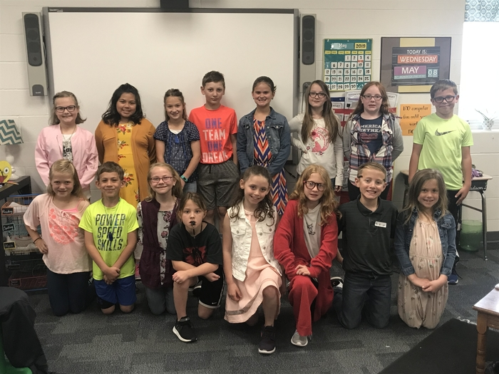 Students dressed as teacher.