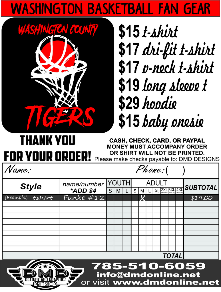 Tiger Apparel Form!
