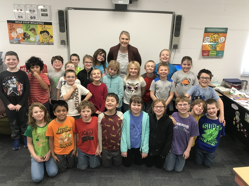 Hayley with the 2nd grade class.