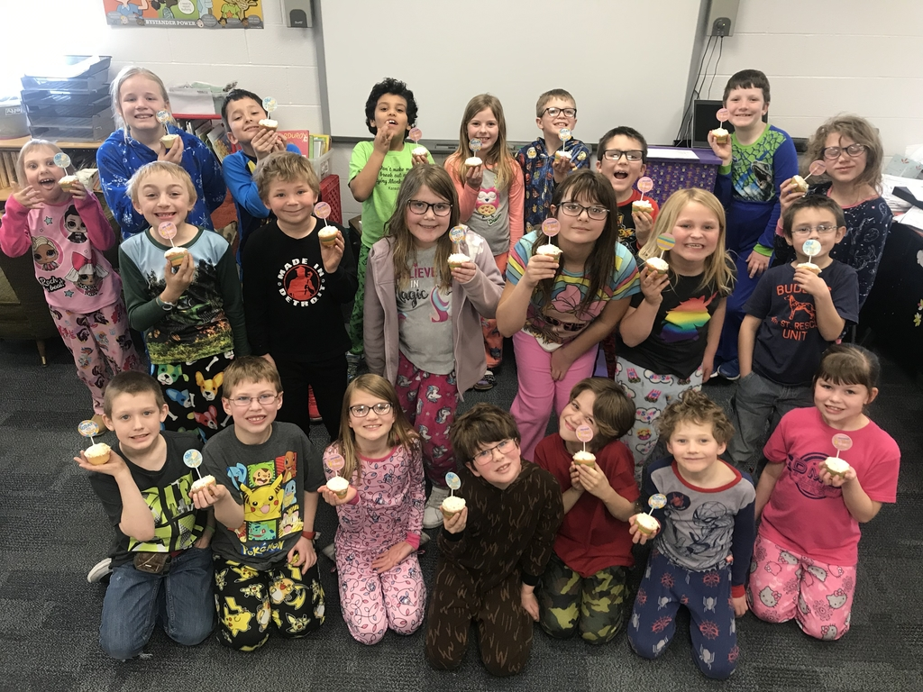 A big thank you for Mrs. Rundle's second grade for the delicious cupcakes today!