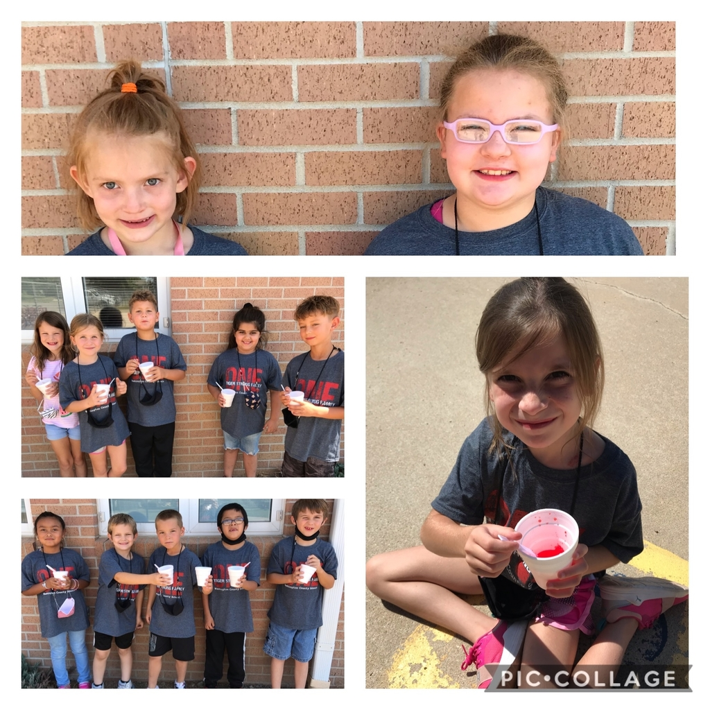 Snow cones are so nice on a Friday afternoon!  Thanks Heather & Mrs. Hoover!